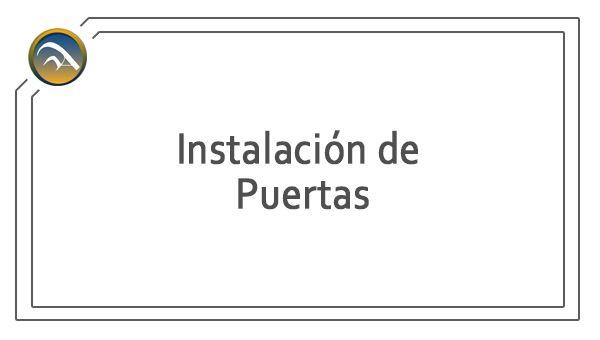 Servicio - Instalacion de Puertas de Aluminio y PVC - Pamplona