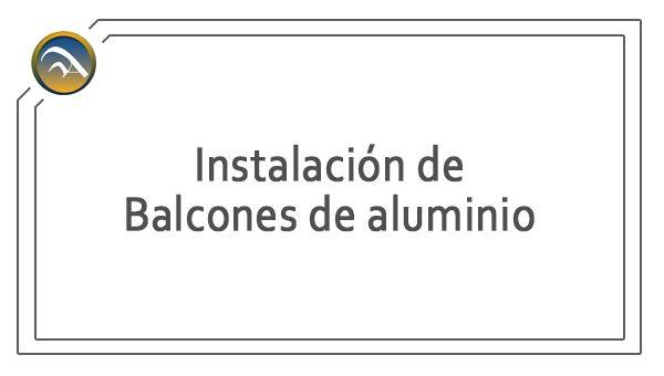 Servicio - Instalacion de balcones en Pamplona