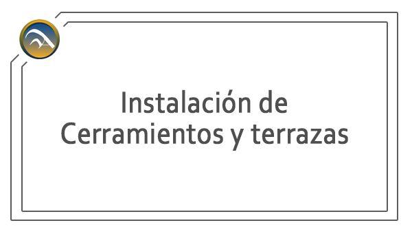 Servicio - Instalacion de cerramientos y terrazas - Aluminio - Pamplona