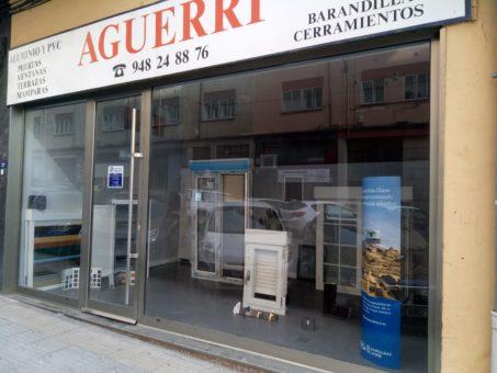 Esposicion Muestrario de ventanas de aluminio y PVC Pamplona (1)